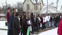 Noon: Strongsville students walk out