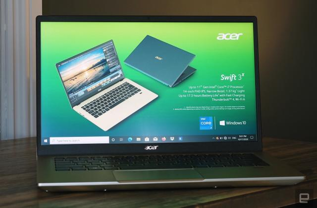 Acer's Swift 3X is the first laptop with Intel Xe Max graphics
