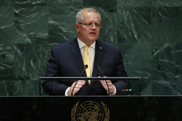 Australian Prime Minister Scott Morrison was asked by US President Donald Trump for help in an inquiry intended to discredit special counsel Robert Mueller's investigation, The New York Times reported (AFP Photo/SPENCER PLATT)