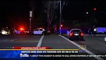 Suspected drunk driver hits pedestrian with her son in the car