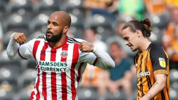 Hull vs Sheffield United: David McGoldrick double helps Blades near end to Premier League exile