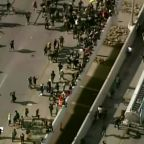 Semi-Trailer Drives Through George Floyd Protesters Marching in Minneapolis, No Apparent Injuries