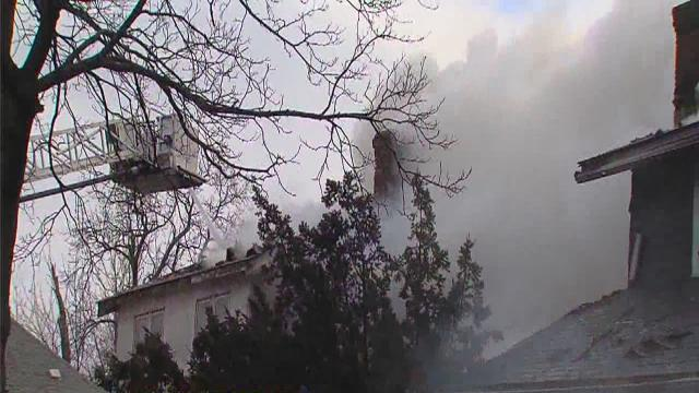 Deadly Highland Park fire rips through three homes