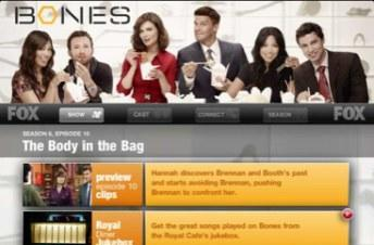 Fox launches iPad companion app for Bones starting with tonight's episode