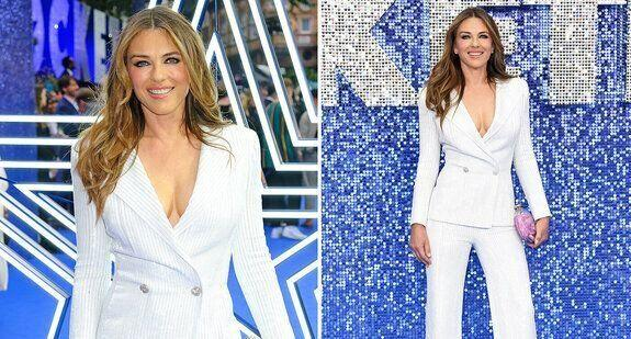 Elizabeth Hurley, 53, stuns in fitted Versace suit at premiere