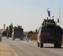 Russian forces patrol Syrian-Turkish border