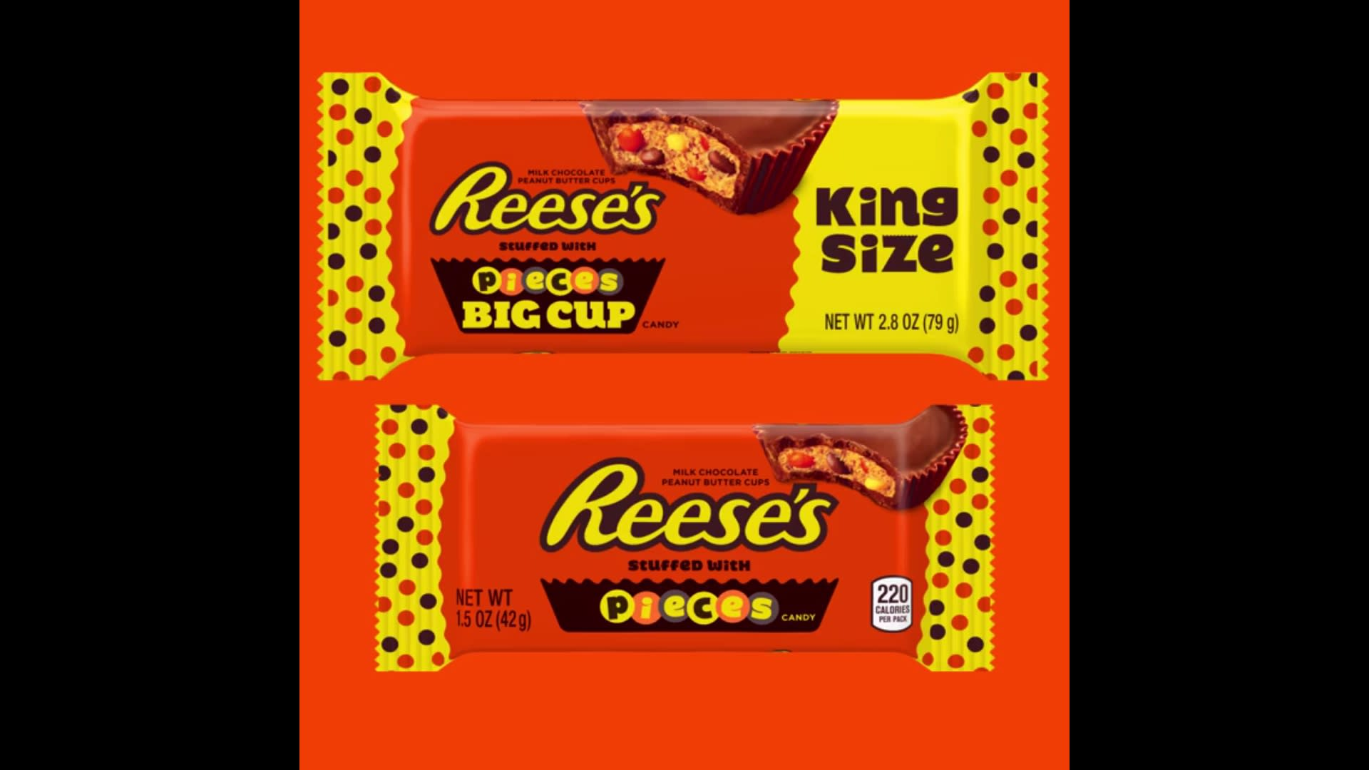 Theyre Real Reeses Peanut Butter Cups Filled With Reeses Pieces