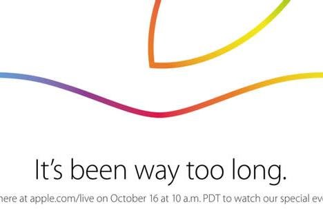 Apple to live stream October 16th press event