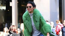Kendall Jenner Celebrated Her 23rd Birthday on a Citi Bike in This Season's Most Coveted Coat