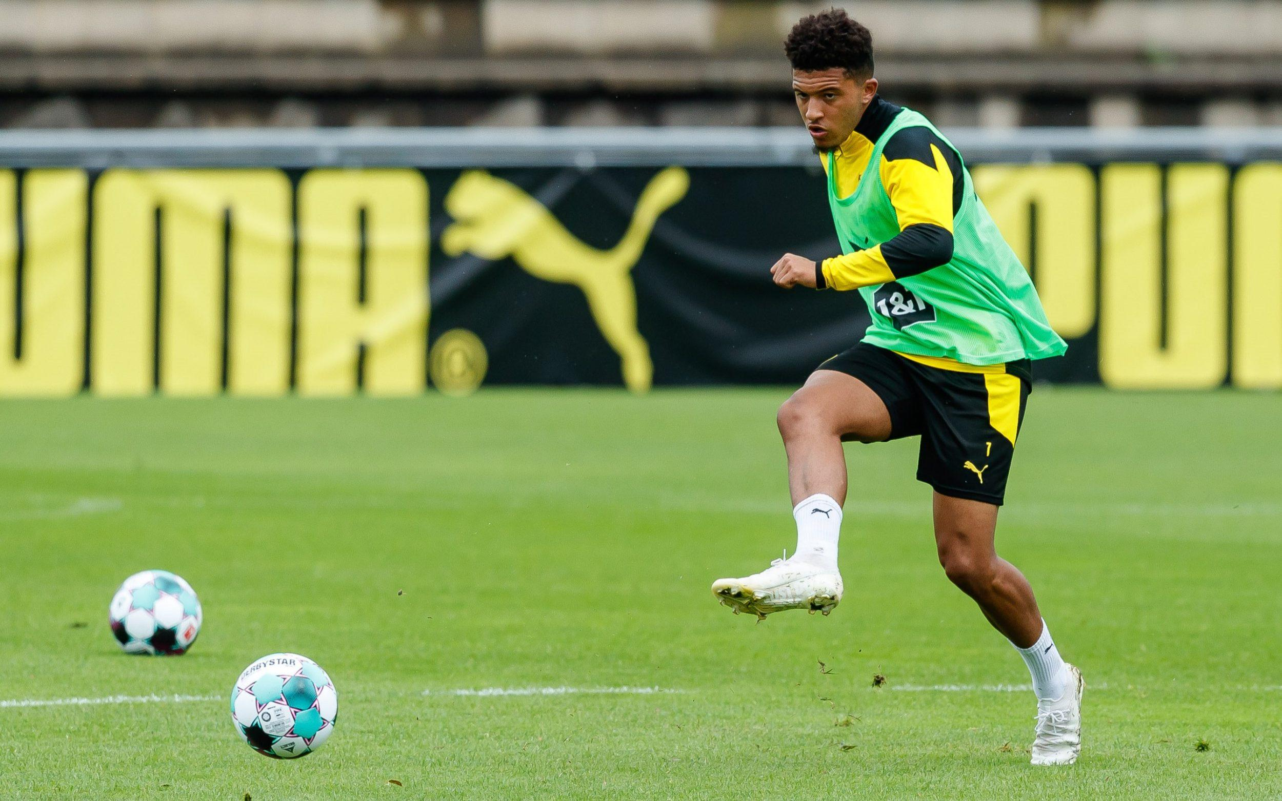 Jadon Sancho in Borussia Dortmund training - Getty Images
