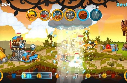 Swords and Soldiers carving up Wii U on May 22