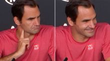 'What match were you watching?': Federer's funny exchange with journo