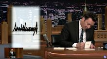 Jimmy Fallon Trolls Trump With 1-2 Punch In 'Thank You Notes'