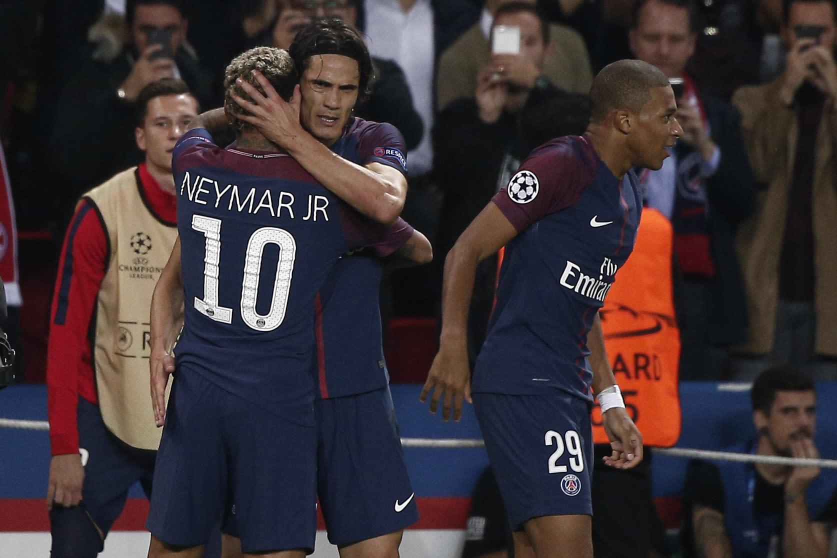 Neymar E Cavani Garantem Vit U00f3ria Do PSG
