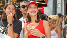 Bella Hadid Sports Cortez Kenny II Sneakers at Formula One Grand Prix in Monaco