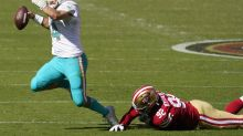 Fitzpatrick luce casi perfecto y Dolphins sorprenden a 49ers