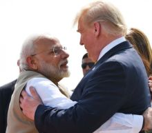 President says he fears Bernie Sanders, as Indians label him 'warmonger, imperialist, gangster' during lavish Taj Mahal visit