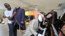 Elton John's bespoke outfits go on display in Savile Row tailor Richard James