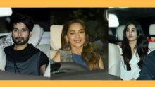 Shahid Kapoor, Madhuri Dixit Attend Starry Premiere of 'Dhadak'