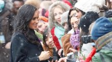 Meghan Markle just weathered a snow storm in knee-high heeled boots