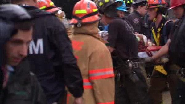Worker rescued from waist-deep mud in Queens