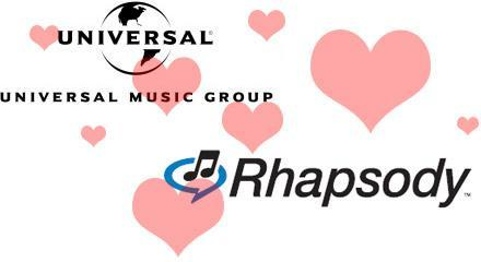 "Universal and Rhapsody launch DRM-free partnership ""test"""