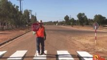 Novel 3D crossing aims to slow traffic