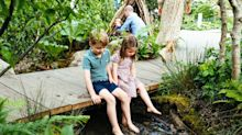 Palace releases rare photos of Kate, William and all three children in Duchess' Chelsea Flower Show garden