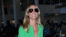 Heidi Klum 'piensa en verde' con este look neon