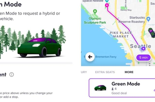 Lyft adds the option to request EVs or hybrids