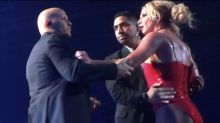 Britney Spears is praised for finishing Las Vegas show after she's left shaken by 'Crazy' stage invader