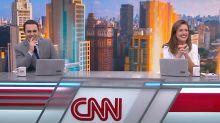 """Âncoras da CNN Brasil têm ataque de riso e interrompem jornal: """"Falha terrível"""""""