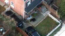 Aerial Footage: Bear Explores Delaware Neighborhood