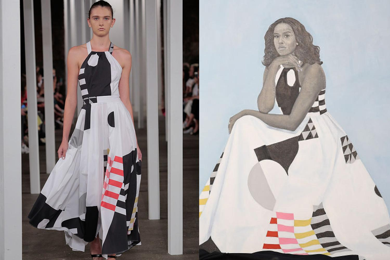 The covert politics in Michelle Obama's portrait dress