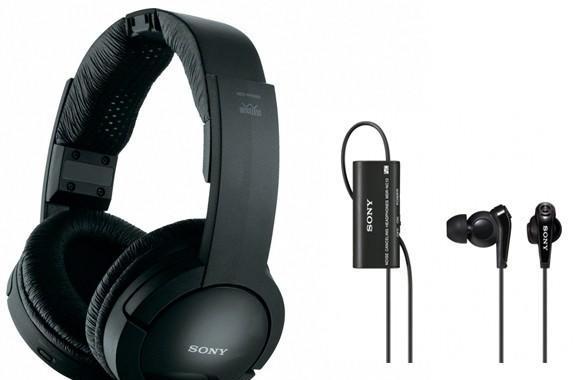 Sony's NC-13 buds cancel noise, RF865 cans transmit across a football field