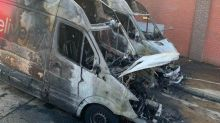 Coronavirus: Supermarket delivery vans torched in 'sickening' attack
