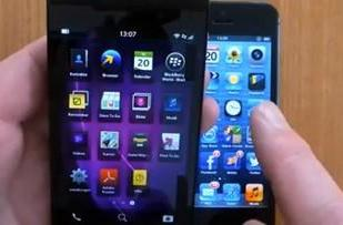 BlackBerry Z10 and iPhone 5 go head-to-head in video