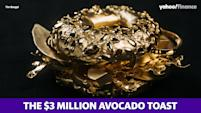 The world's most expensive avocado toast is made of solid gold
