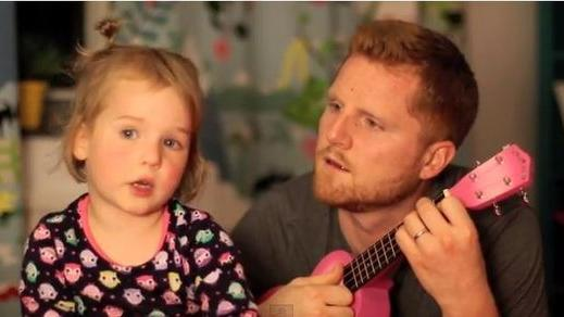 Father Duets with Adorable Daughter