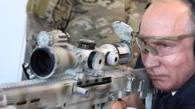 Vladimir Putin Shows Off Sniper Skills, Fires New Kalashnikov Rifle