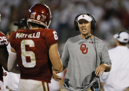 Just 33 years old, Oklahoma's Lincoln Riley is the youngest FBS head coach. (AP Photo/Sue Ogrocki)