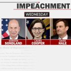 "Chances of Trump offering written testimony to impeachment investigators ""absolute zero"""