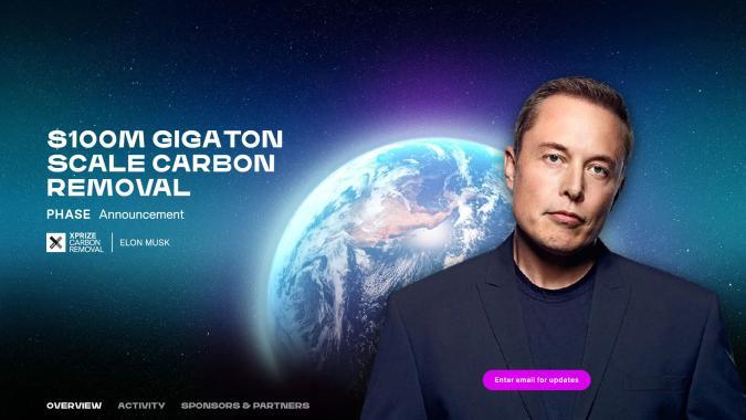 Elon Musk's $100 million carbon capture X-Prize starts today