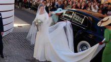 El vestido de novia de Eva González, al detalle