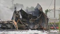 Fire destroys trucking company in Hammond, Ind.