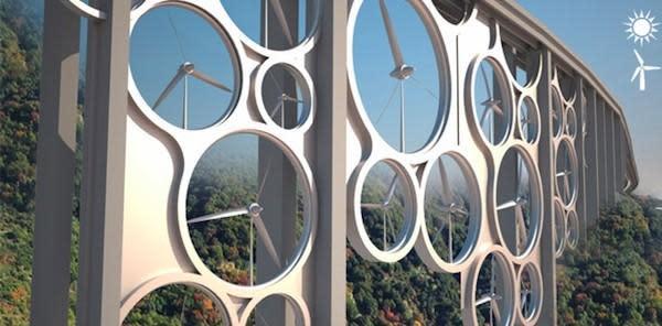 Solar Wind bridge concept could power 15,000 homes, grow vegetables