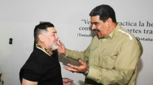 Maduro welcomes Maradona to Caracas ahead of forum