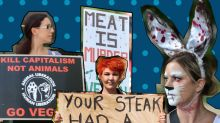 Vegan activists stormed an Australian steak restaurant to 'speak up for animals'