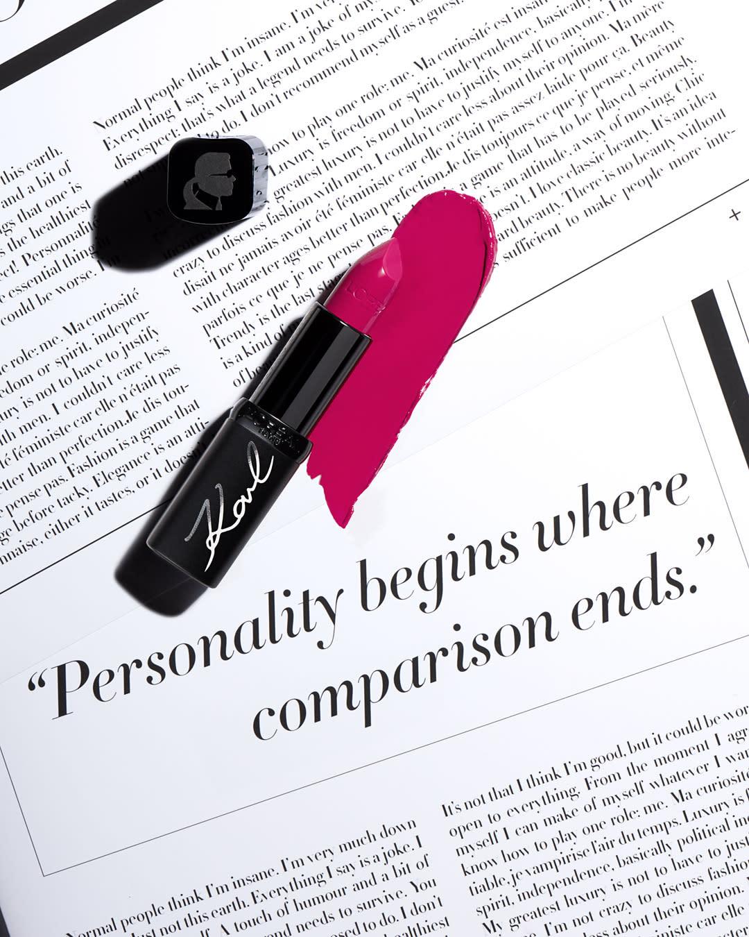 Here S A Sneak Peek At The Karl Lagerfeld X L Oréal Paris