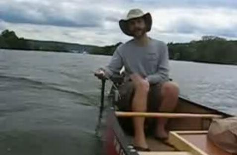 Wii nunchuck braves the outdoors to steer electric canoe